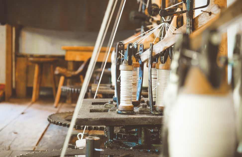 antica lavorazione del cotone naturale